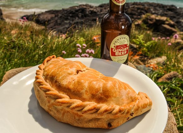 Cornish Pasty - Kynance Cove Beach Cafe, Cornwall